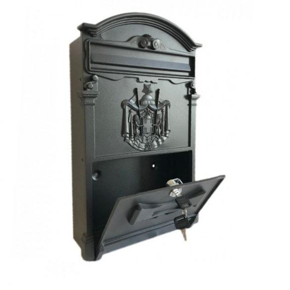 Kronberg Rustica postaláda fekete színben 410x260x90mm