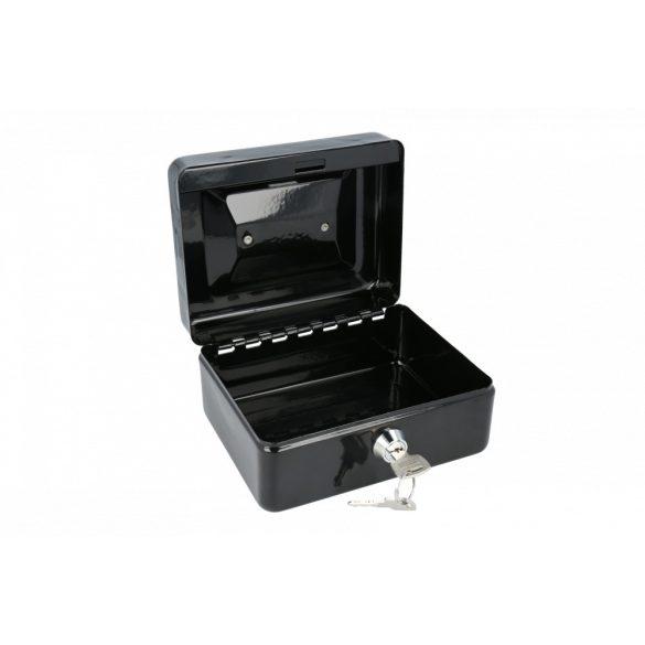 Europe150 pénzkazetta kulcsos zárral fekete színben 80x152x118mm