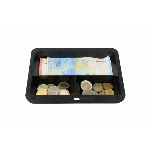 Europe200 pénzkazetta kulcsos zárral fekete színben 90x200x160mm