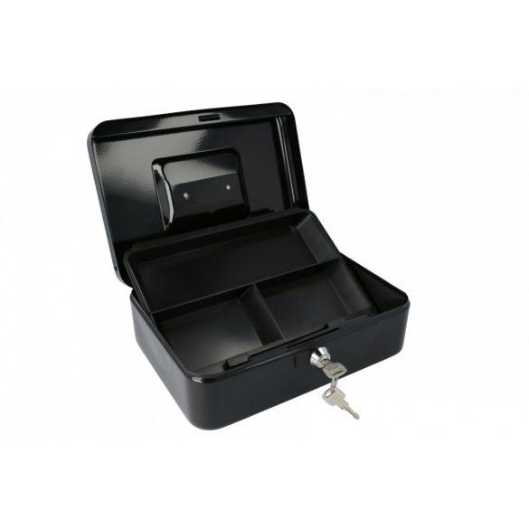 Europe250 pénzkazetta kulcsos zárral fekete színben 90x250x180mm