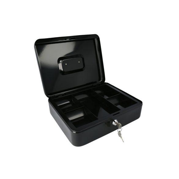 Europe300 pénzkazetta kulcsos zárral fekete színben 90x300x240mm