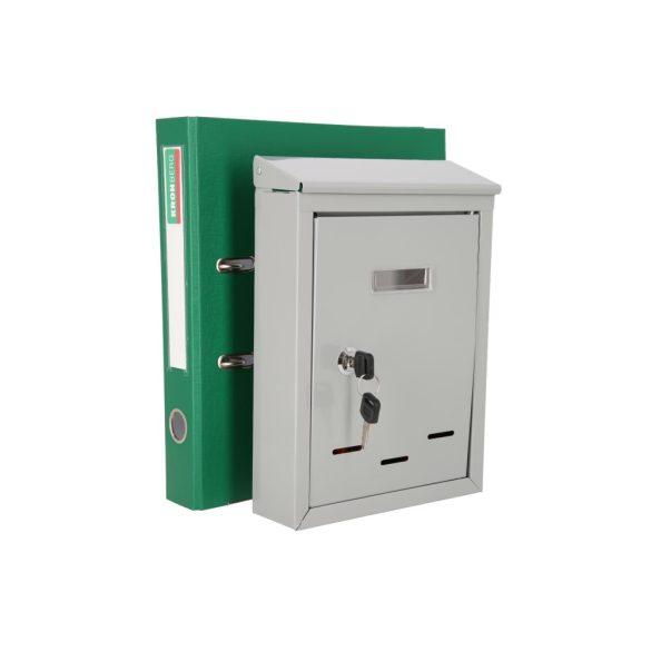 Kronberg Basic postaláda kulcsos zárral ezüst színben 290x200x60mm