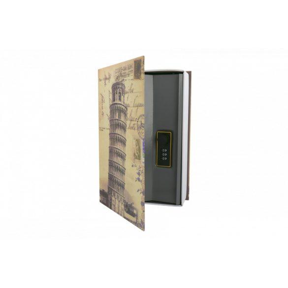 BookSafe Pisa könyv alakú pénzkazetta 240x155x55mm