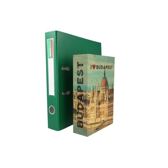 BookSafe Budapest könyv alakú pénzkazetta 240x155x55mm