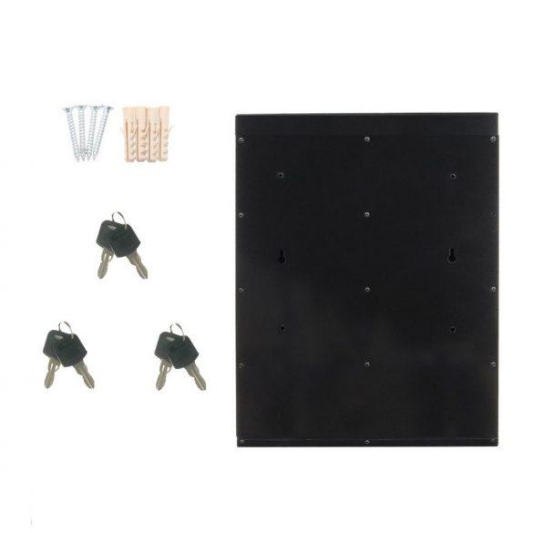 Glory3 tömbösített postaláda fekete és ezüst színben 485x385x140mm