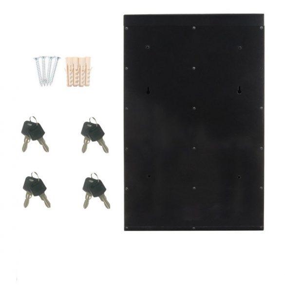Glory4 tömbösített postaláda fekete és ezüst színben 600x385x140mm