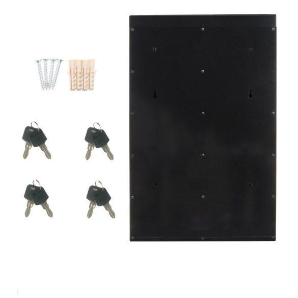 Glory5 tömbösített postaláda fekete és ezüst színben 715x385x140mm