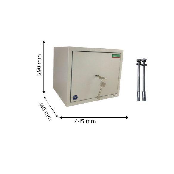 Kronberg IVT290 páncélszekrény kulcsos zárral 290x445x400mm