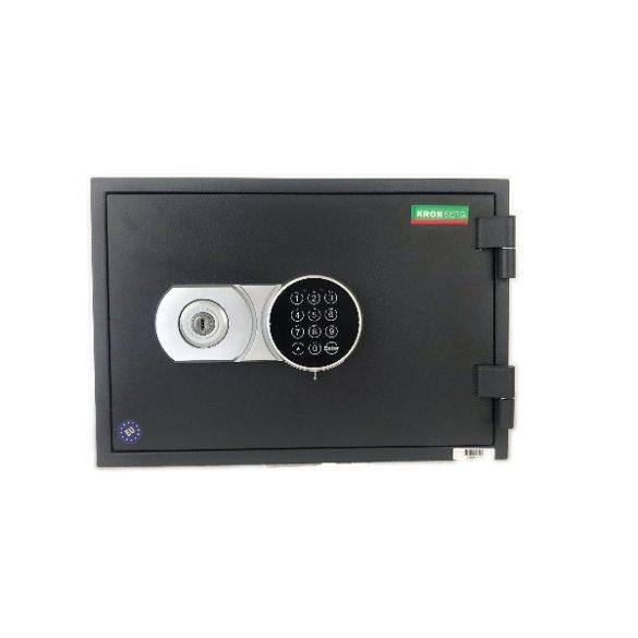 Kronberg Fire30 tűzálló páncélszekrény kulcsos és elektronikus zárral 296x430x365mm
