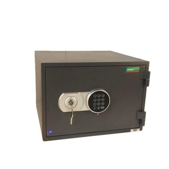 Kronberg Fire32 tűzálló páncélszekrény kulcsos és elektronikus zárral 315x445x425mm