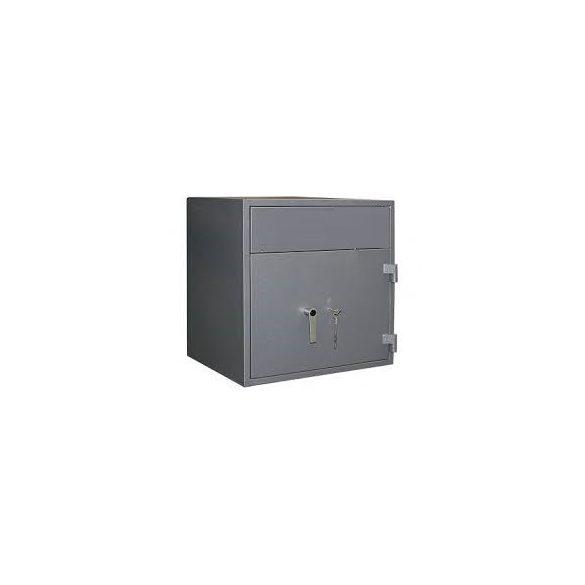 Kronberg IVT165 hátsó kulcsos bedobófiókos páncélszekrény kulcsos zárral 670x440x550mm