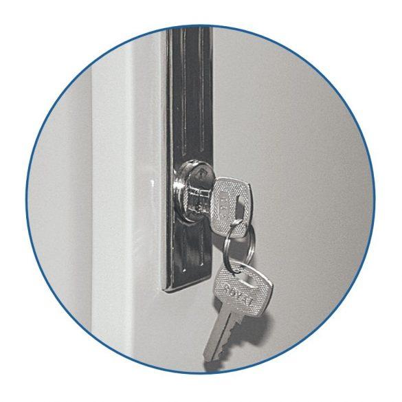 Kronberg IVT Office4SD/2 tolóajtós irattároló szekrény kulcsos zárral 1830x915x458mm