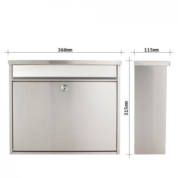 Hochhaus II Inox nemesacél postaláda 315x360x115mm
