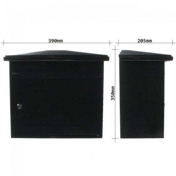 Wörthersee postaláda fekete színben 350x390x205mm