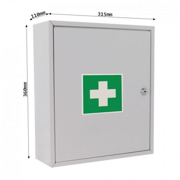 Gyógyszertároló szekrény kulcsos zárral 360x315x110mm