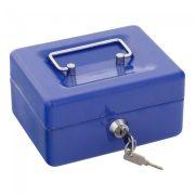 Traun1 pénzkazetta kulcsos zárral kék színben 85x150x130mm