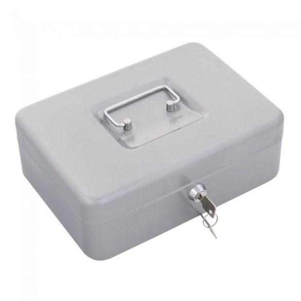 Traun3 pénzkazetta kulcsos zárral ezüst színben 90x250x185mm