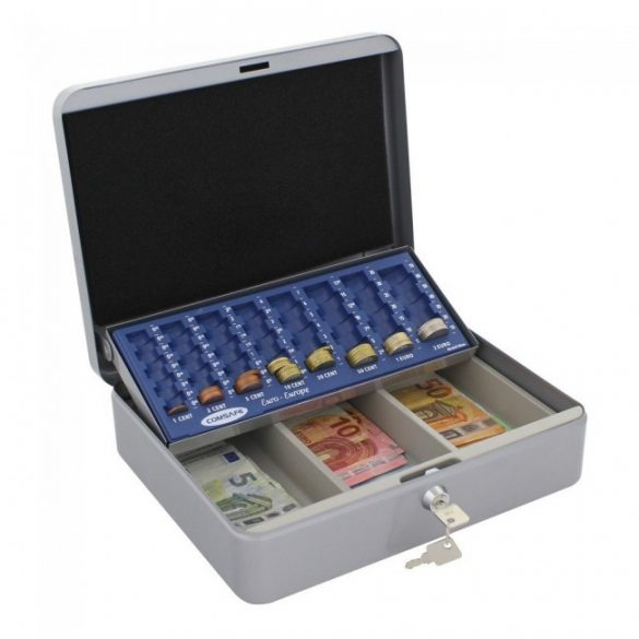 Wien pénztár euró érmetálcával ezüst színben 90x300x240mm