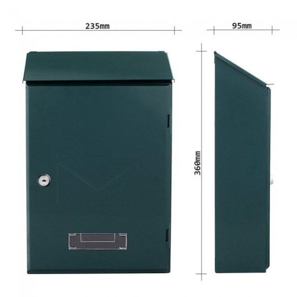 Pisa postaláda zöld színben 360x235x95mm