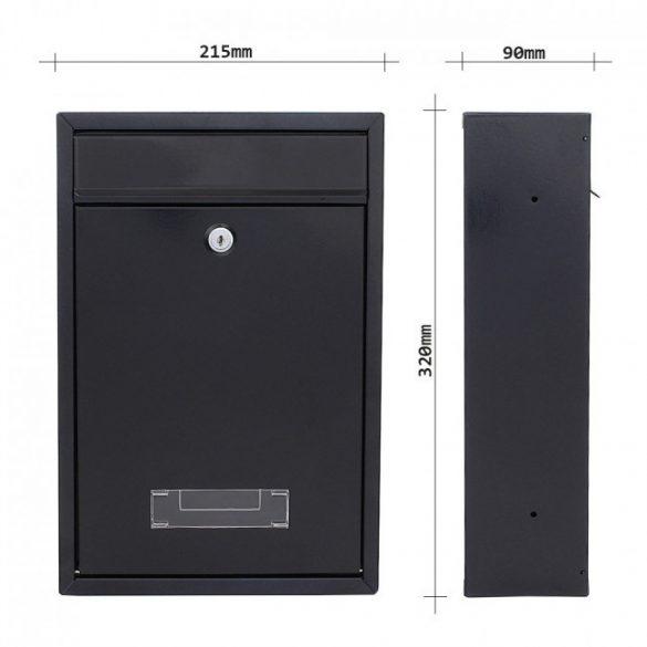 Tarvis postaláda fekete színben 320x215x90mm