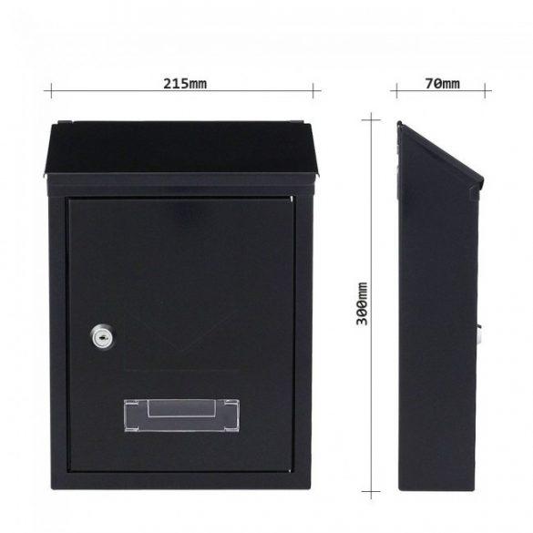 Udine postaláda fekete színben 300x215x70mm