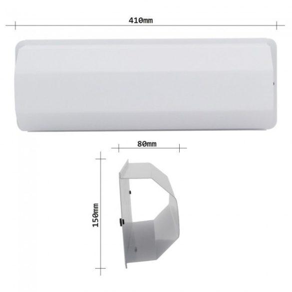 Pescara újságtartó fehér színben 150x410x80mm