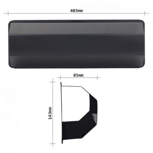 Pescara újságtartó fekete színben 143x403x85mm