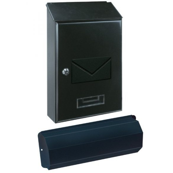 Torino Set postaláda újságtartóval fekete színben 505x402x95mm