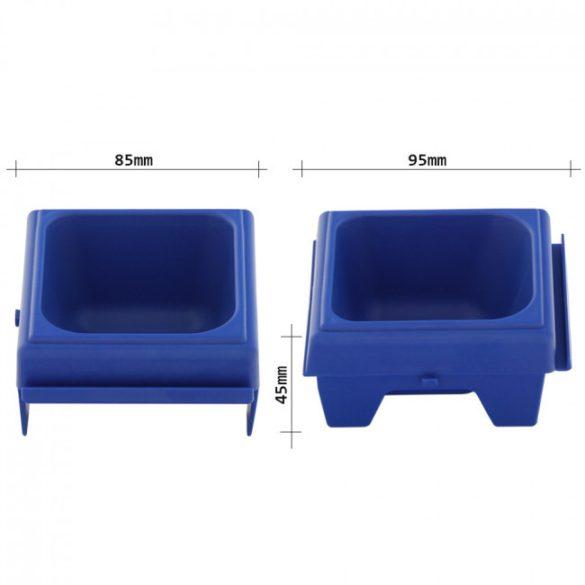 Cash pénzérme tároló tálca kék színben 45x85x95mm