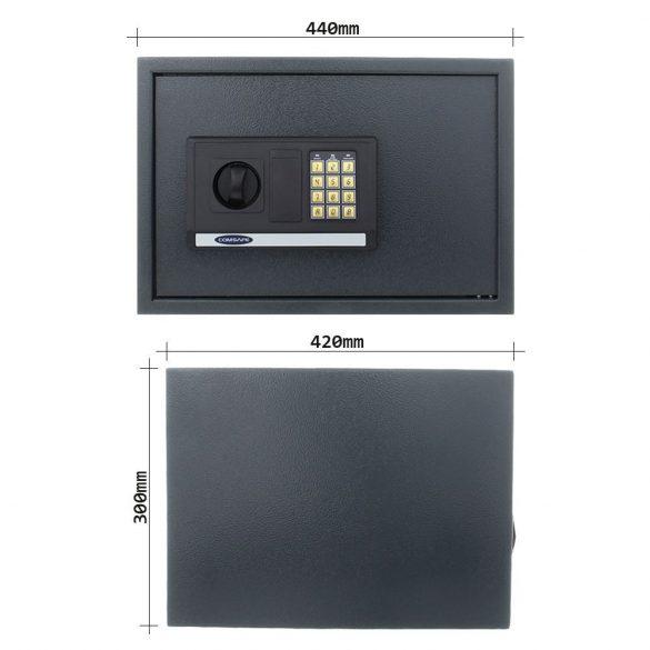 Atlantis2 bútorszéf elektronikus zárral, vészkulccsal 300x440x420mm