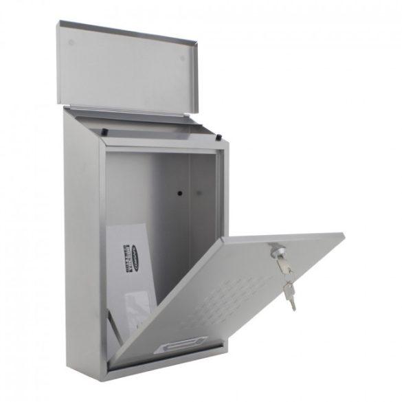 Lignano postaláda ezüst színben 400x270x115mm