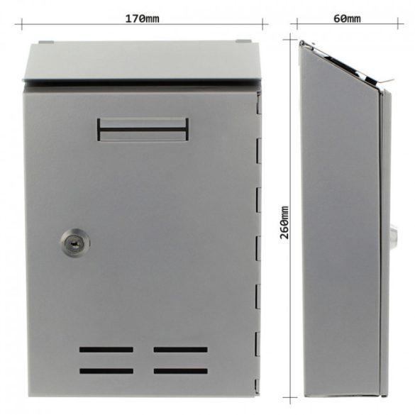 Standard I postaláda ezüst színben 260x170x60mm