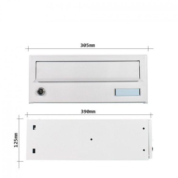 Euroletter tömbősíthető postaláda fehér színben 125x305x390mm