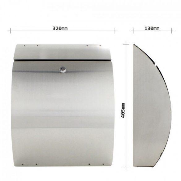 Eleganza Inox nemesacél postaláda 405x320x130mm