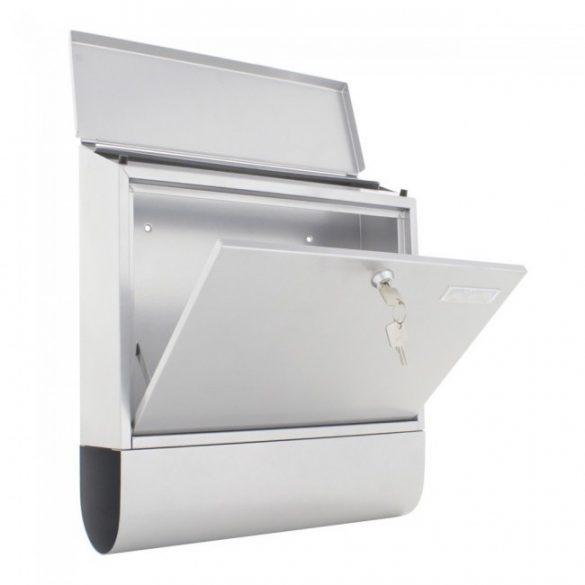 Villa Spezial Set postaláda újságtartóval ezüst színben 415x365x115mm