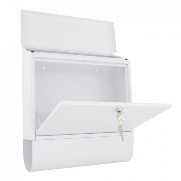 Villa Spezial Set postaláda újságtartóval fehér színben 415x365x115mm