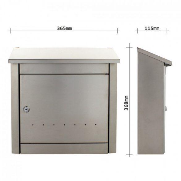 Trend Inox nemesacél postaláda 368x365x115mm