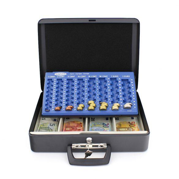 London pénztárkazetta euró érmetálcával 110x370x290mm