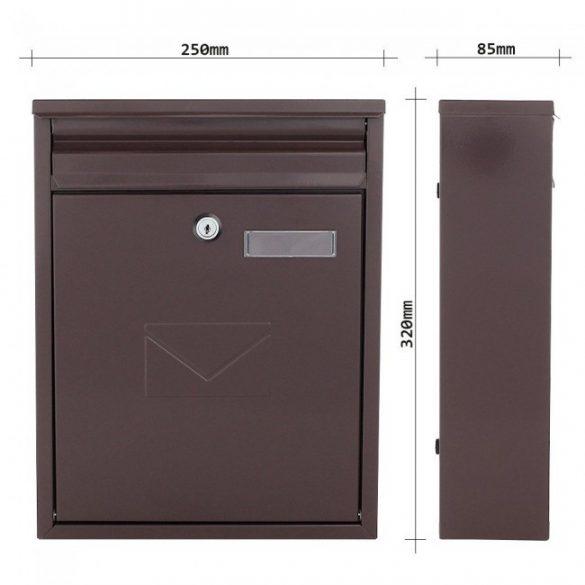 Como postaláda barna színben 320x250x85mm