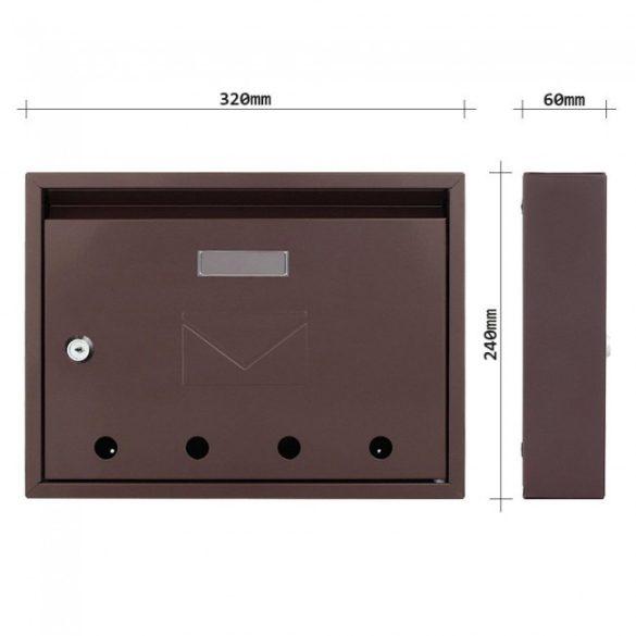 Imola postaláda barna színben 240x320x60mm