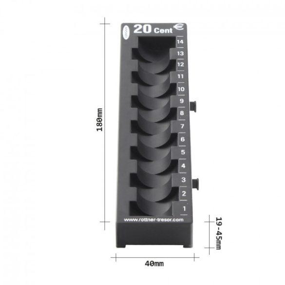 20 Cent érmetálca fekete színben 180x45x60mm