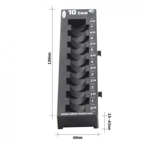 10 Cent érmetálca fekete színben 180x45x60mm