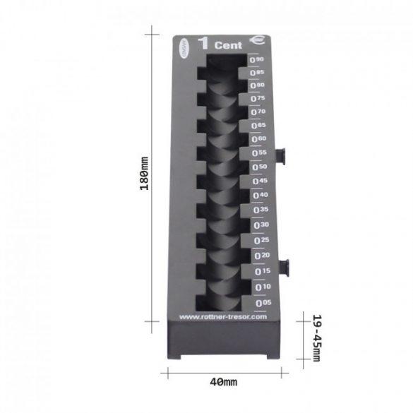 1 Cent érmetálca fekete színben 180x45x60mm