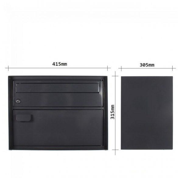 Enzian postaláda fekete színben 315x415x305mm