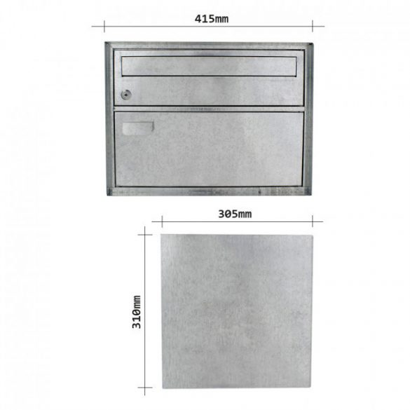 Distel Inox nemesacél postaláda 310x415x305mm