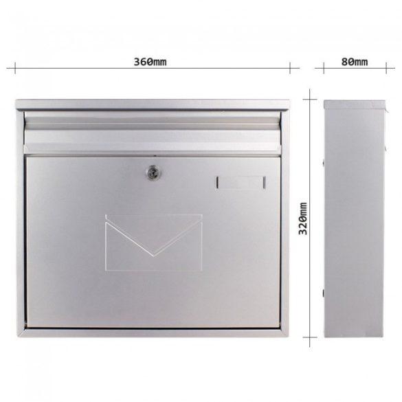 Teramo postaláda ezüst színben 320x360x80mm