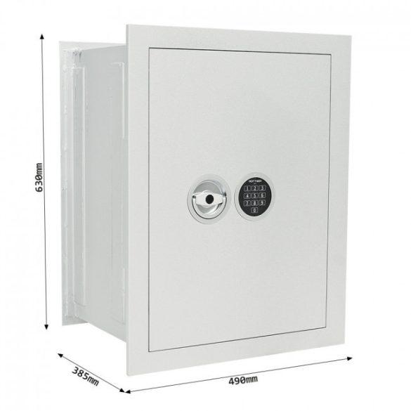Stone Premium SE-65 fali páncélszekrény elektronikus zárral 630x490x385mm