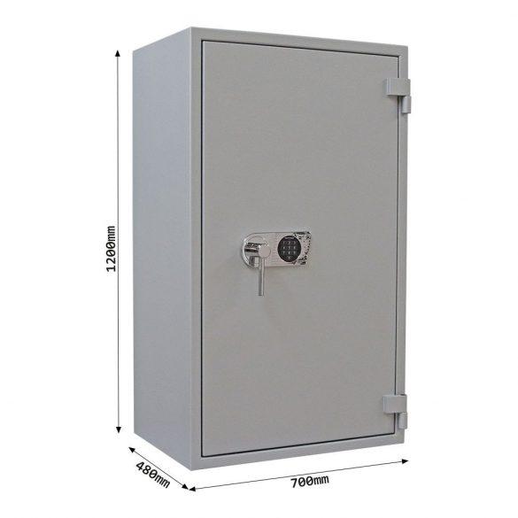 SuperPaper120 Premium tűzálló irattároló páncélszekrény elektronikus zárral 1200x700x480mm