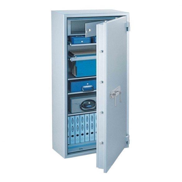 SuperPaper140 Premium tűzálló irattároló páncélszekrény kulcsos zárral 1360x700x480mm