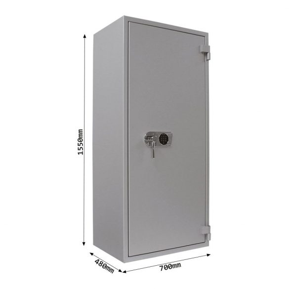 SuperPaper 160 Premium tűzálló irattároló páncélszekrény elektronikus zárral 1550x700x480mm